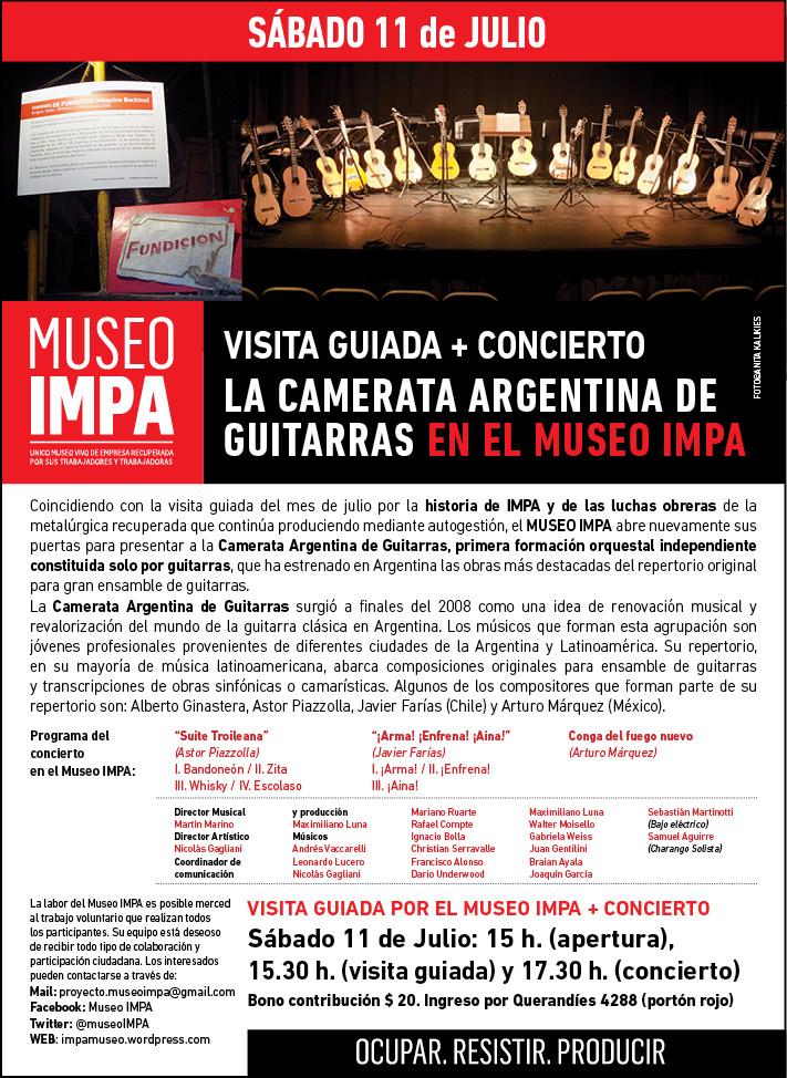 Eflyer Julio Visita + Camerata de Guitarras