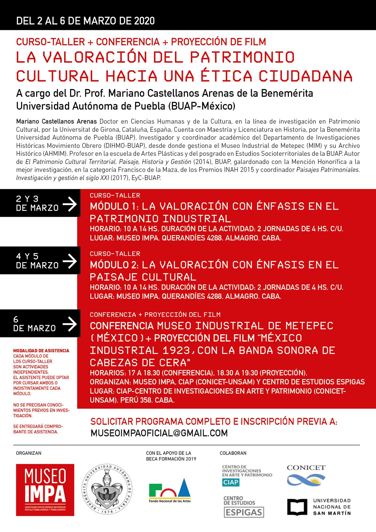 Eflyer Capacitacion Museo IMPA 2020